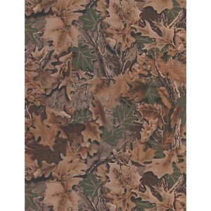 Real Tree Advantage CAMOUFLAGE Leaves Forest Camo Wallpaper Double Roll WD4140