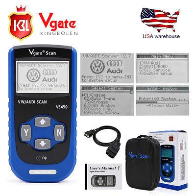 Vgate VS450 OBDII Diagnostic Tool ABS Airbag Scanner Code Reader For Audi /VW