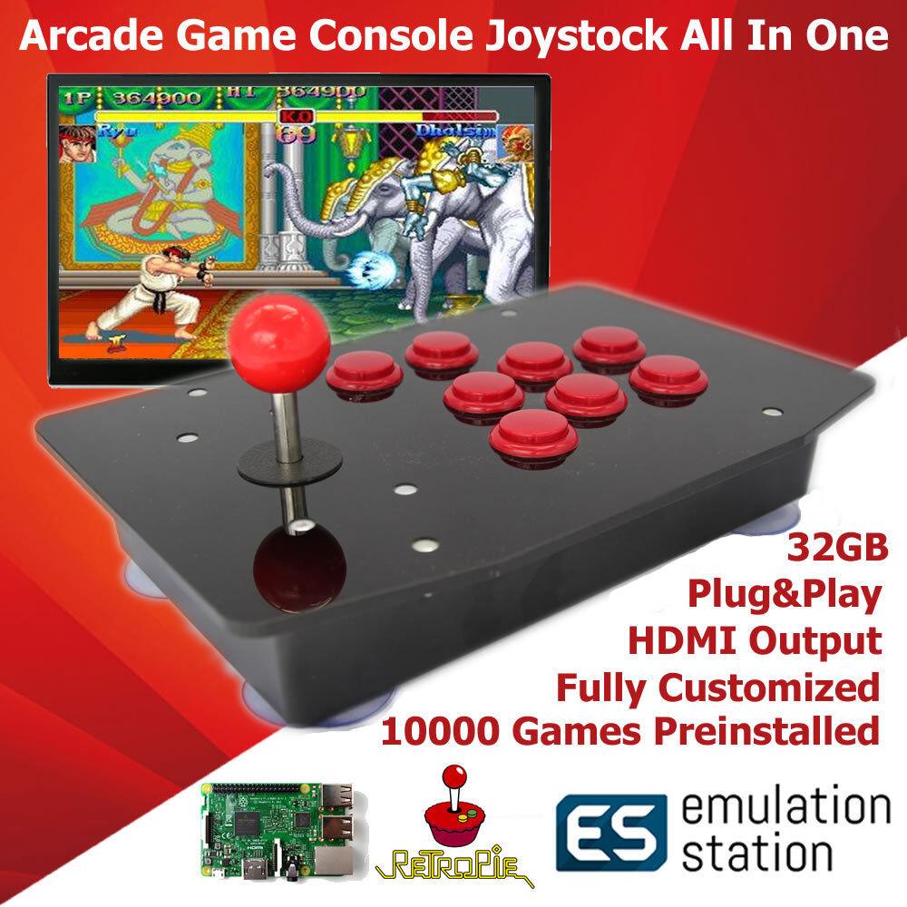 Computer Games - Raspberry Pi Arcade Game Retro Console Joystick All In One 128GB