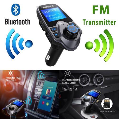 Bluetooth Wireless AUX Stereo Audio Receiver FM Transmitter Radio Adapter USB US