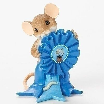 """Charming Tails 3"""" Mouse Figure Blue Ribbon Award You Are the Best #19371"""