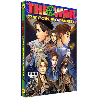 EXO 4th Repackage Korean Ver THE WAR The Power of Music Album CD+Comic+Photocard