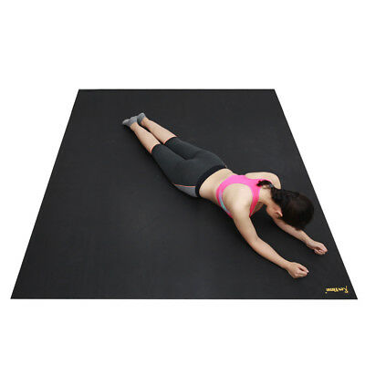 "RevTime Extreme Large Exercise Rubber Mat 8'x6' (96""x 72"") Black"
