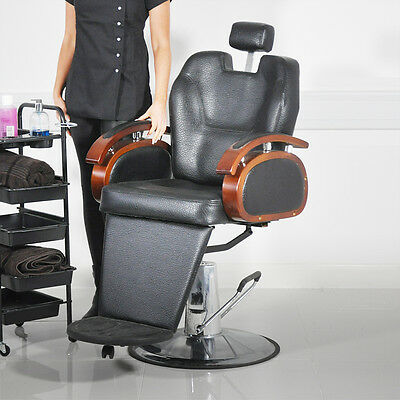 TRADITIONAL HYDRAULIC BARBER/SHAVING SWIVEL CHAIR HAIRDRESSING SALON STYLING