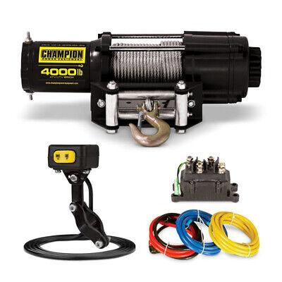 Champion Cpe-wn-14001heavy Duty Atvutv 4000-pounds Winch Kit With Mini-rocker