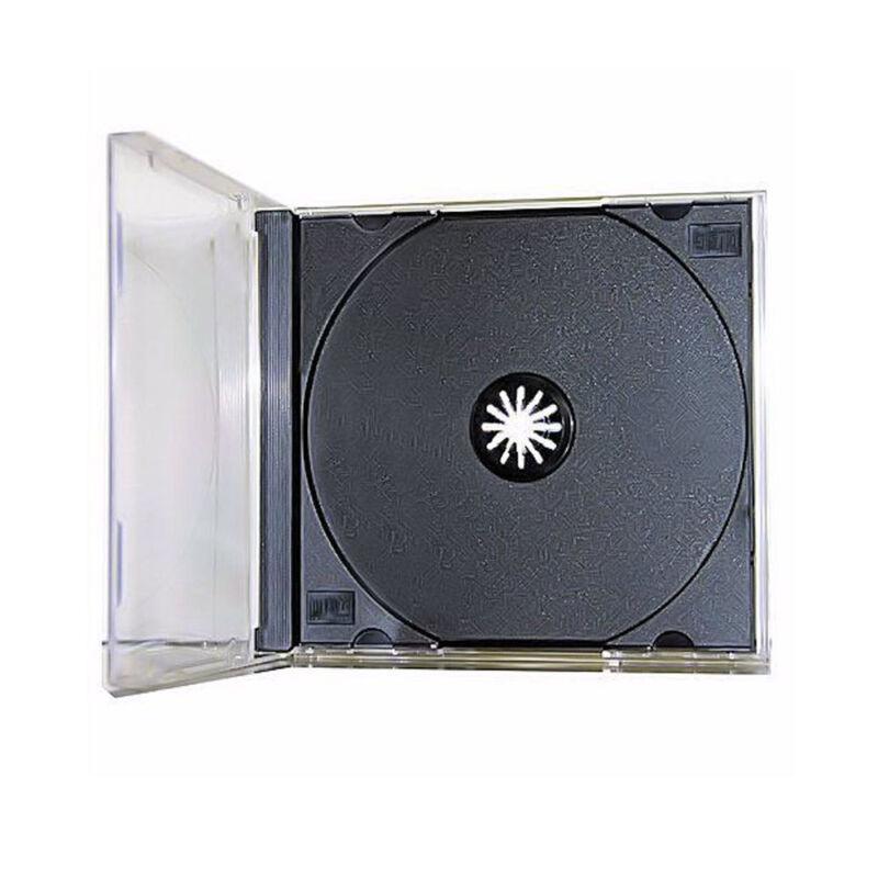 100 New Single Standard Black CD DVD Jewel Case Assembled 10.4mm [FREE SHIPPING]