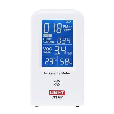 UNI-T UT338C PM2.5 Air Quality Detector Formaldehyde Monitor Haze Dust VOC 0~500