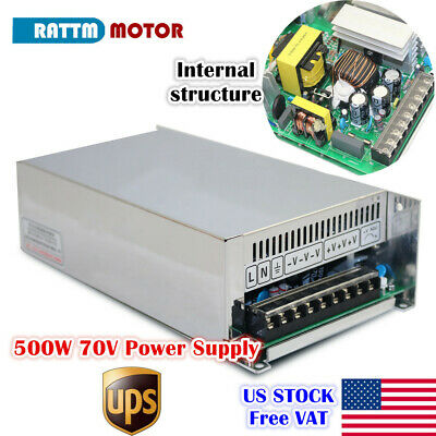 Us500w 70v Dc Switch Power Supply Cnc Router Single Output Engraver Milling