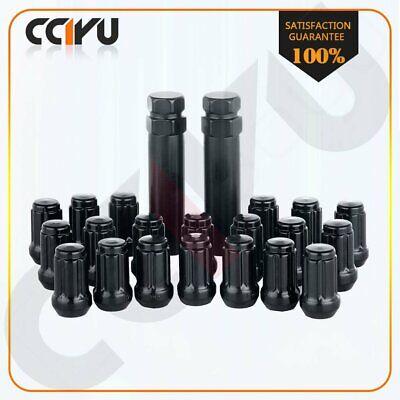 20 Black Wheel Racing Forged Lug Nuts M12x1.5 1.38inch Tall For Honda Civic+2key