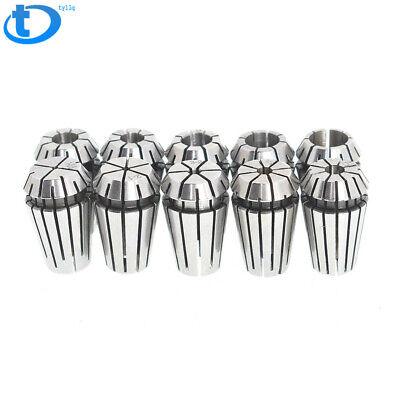 10pcs 1-10mm Er16 Spring Collet Set For Cnc Milling Lathe Tool Engraving Machine