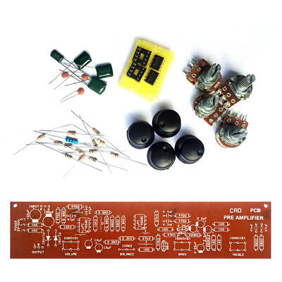 Diy Ne558 Stereo Pre Amplifier Kit With Tone Control Pcb