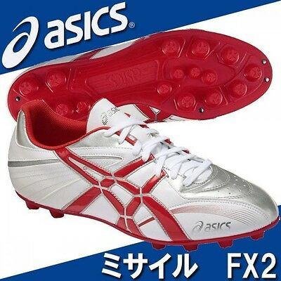 asics American football shoes Missile FX2 TAM805 White X red
