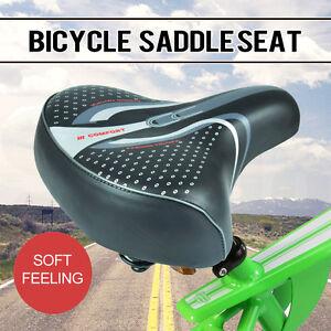 Unisex Wide Big Bum Sprung Bike Bicycle Gel Cushioned Comfort Soft Saddle Seat