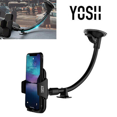YOSH 360° In Car Phone Holder Windscreen Mount Suction Fr iPhone X XS 11 Pro MAX