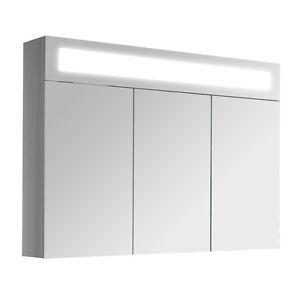3D Spiegelschrank Badmöbel Spiegel Schrank Wandspiegel beleuchtet Badschrank 90