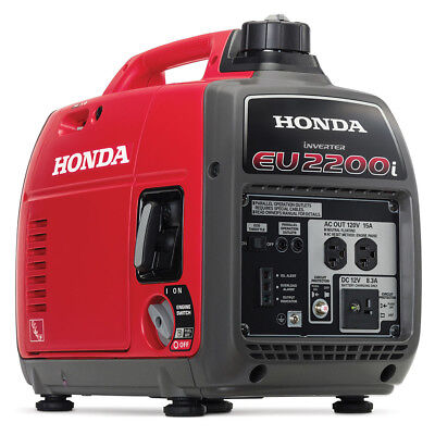 Super Quiet Honda EU2200i 2200 Watt Lightweight Portable Generator w/ Inverter