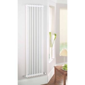ACOVA 2-COLUMN VERTICAL RADIATOR 2000 X 306MM WHITE