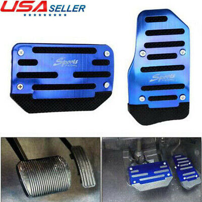Universal Blue Non-Slip Automatic Gas Brake Foot Pedal Pad Cover Car Accessories