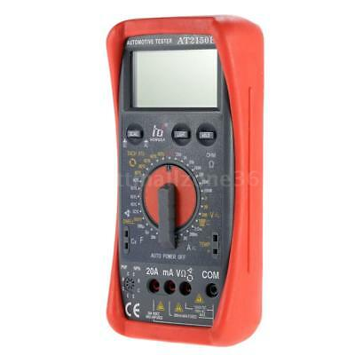 At2150b Lcd Digital Multimeter Automotive Meter Cap Temp Tach Tester Sensor E3u2