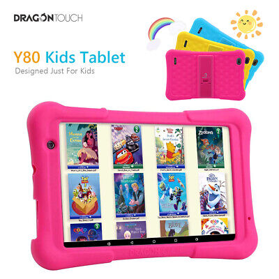 "Dragon Touch Y80 8"" Kids Tablet Quad Core 2GB+16GB Android 8.1 Wifi w/Disney App"