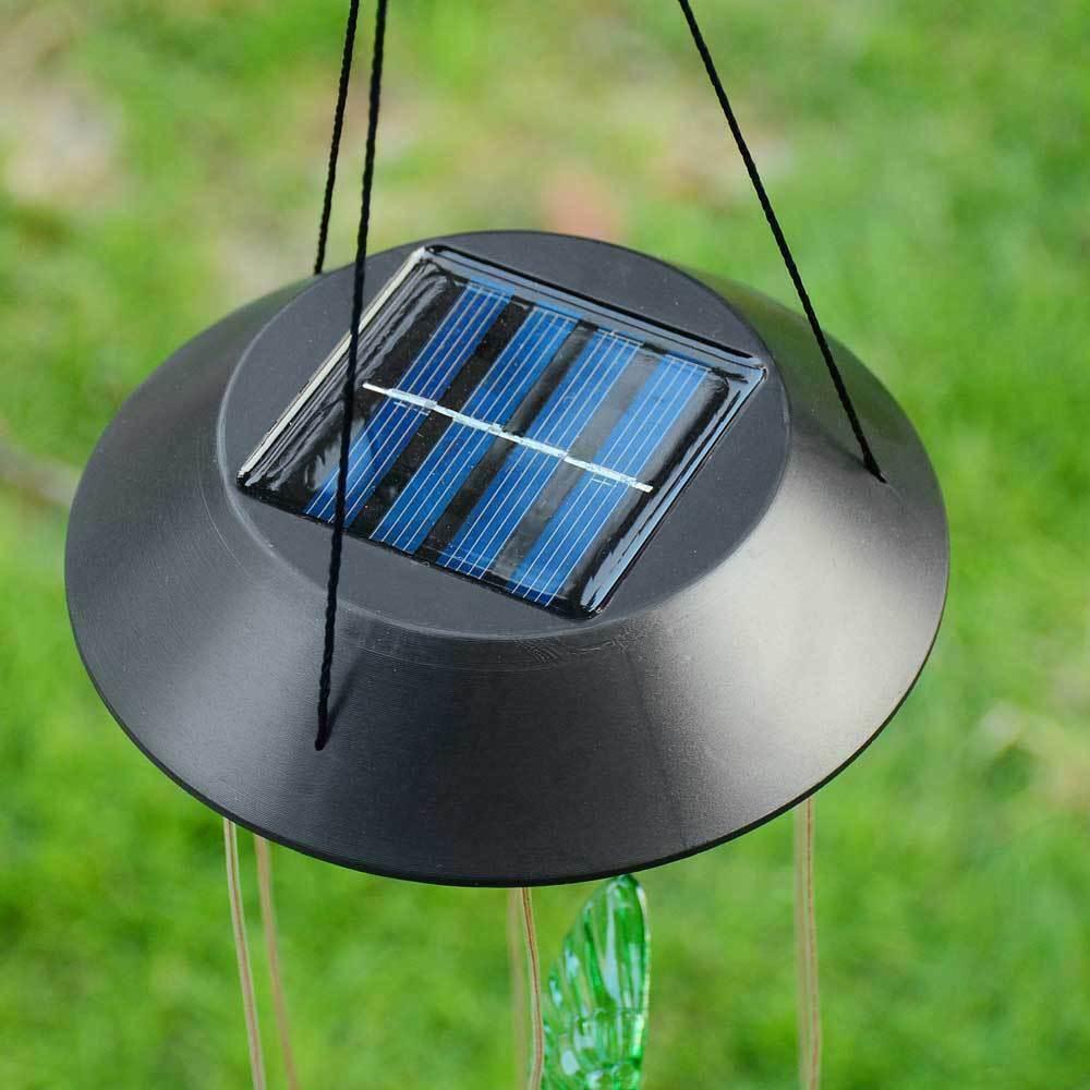 Color-Changing LED Solar Powered Hummingbird Wind Chime Lights Yard Garden Decor Garden Décor