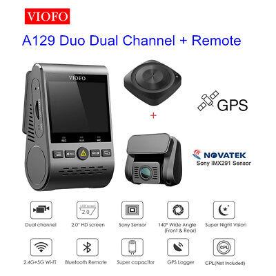 "Night Vision Viofo A129 Duo GPS HD 1080P PIP Dual Lens Dash Cam +Remote 2"" LCD"