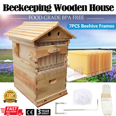 10Pcs White Queen Cages Beekeeper Bee Equipment Tool 7.7 x 3.5 CM Plastic Box