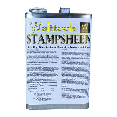 Walttools Stampsheen High-gloss Decorative Concrete Sealer 1 Gallon