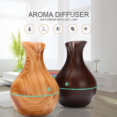 New Home Wooden Humidifier Aroma Essential Oil Diffuser Led