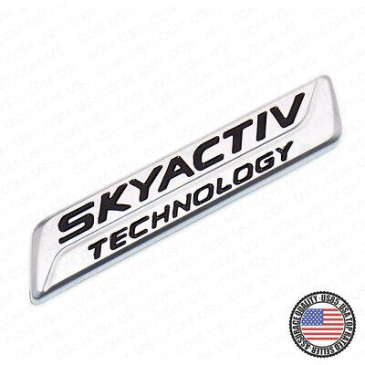 For Mazda Skyactiv Technology Liftgate Badge Logo Car Emblem Decoration Sport