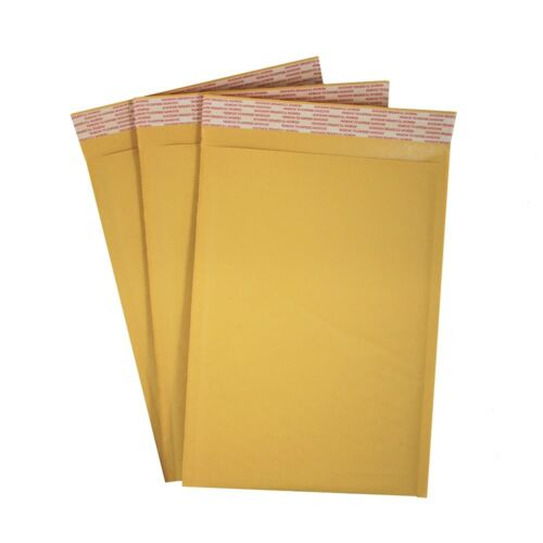 """7.25"""" x 11"""" #1 Kraft Bubble Mailers Self Seal Padded Envelopes - Case of 100"""