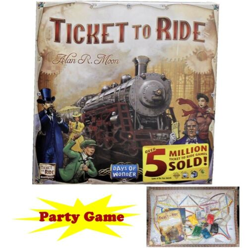 Ticket to Ride Train Adventure Board Game Party Home Game Gi