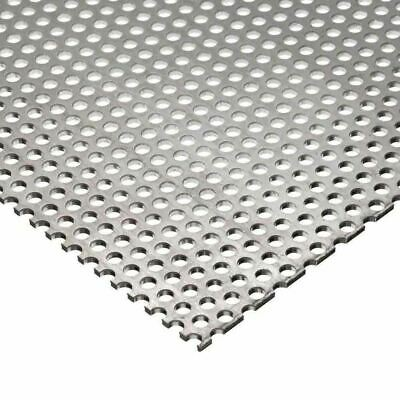 304 Stainless Steel Perforated Sheet .035 20 Ga. X 24 X 24 - 18 Holes