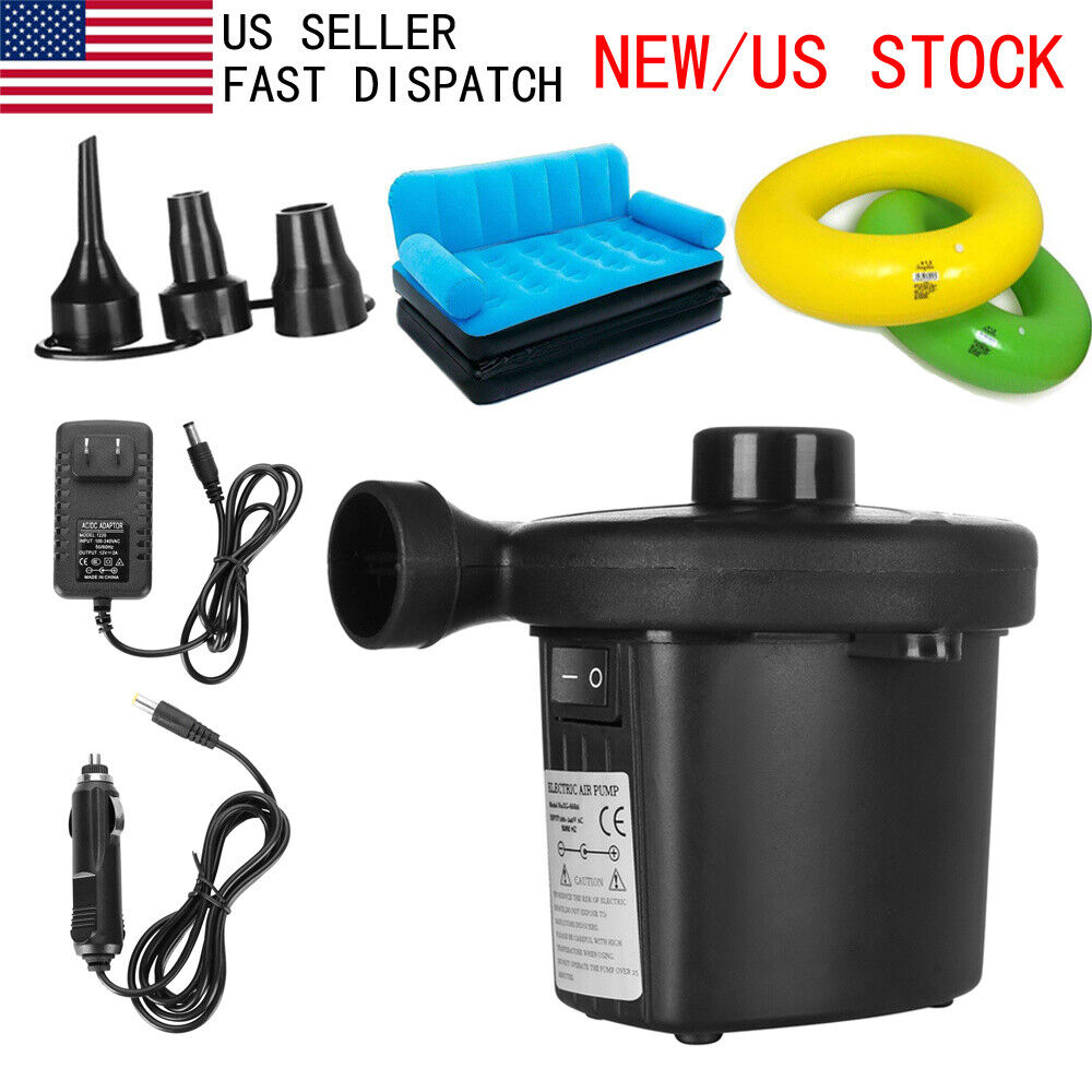 DC 12V 3 Nozzle Electric Portable Air Pump for Inflatables A