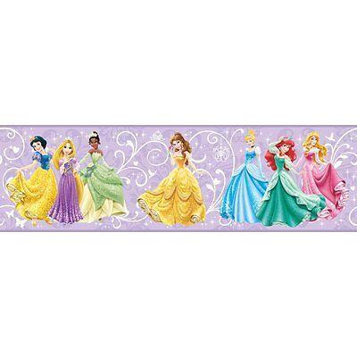 Disney Princess / Princesses on Purple Sure Strip Wallpaper Border DS7602BD](Disney Border)