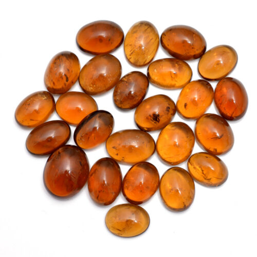 366 Cts Natural Citrine Beer Quartz Oval Cabochon Untreated Gemstones ~ 24 Pcs