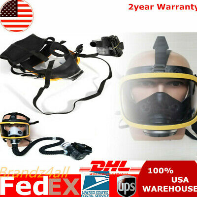 New Constant Flow Air Supplied Fresh Air Respirator System Full Face Gas Mask Us
