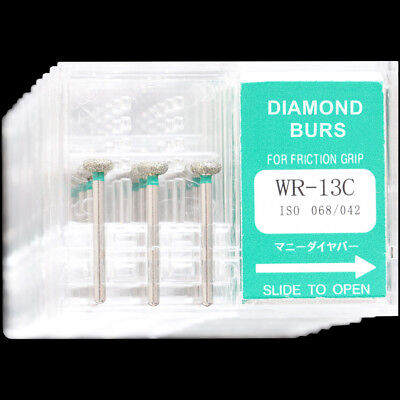 10boxes Wr-13c Mani Dental High Speed Handpiece Diamond Burs Fg 1.6mm Tooth Dril