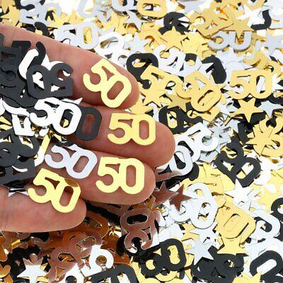 50Th Birthday & Wedding Anniversary Party Table Confetti Decorations 2400 PC Gol