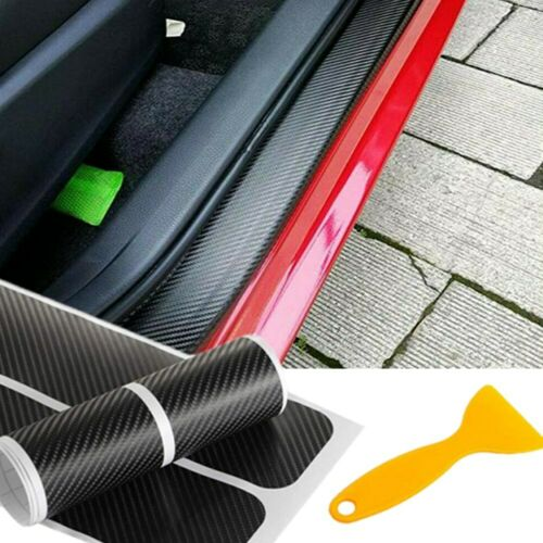 Car Parts - Parts Accessories 2020 Car Door Sill Protector Carbon Fiber Stickers + Scraper