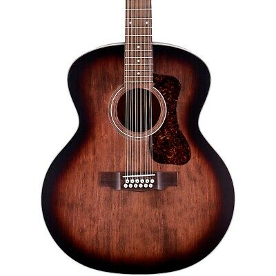 Guild F-2512E Jumbo 12-String Acoustic-Electric Guitar Charcoal Burst