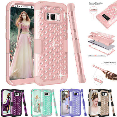 SHINE HYBRID HARD Case For Samsung Galaxy S8/ S8 PLUS/ Note 8 Rubber Phone Cover