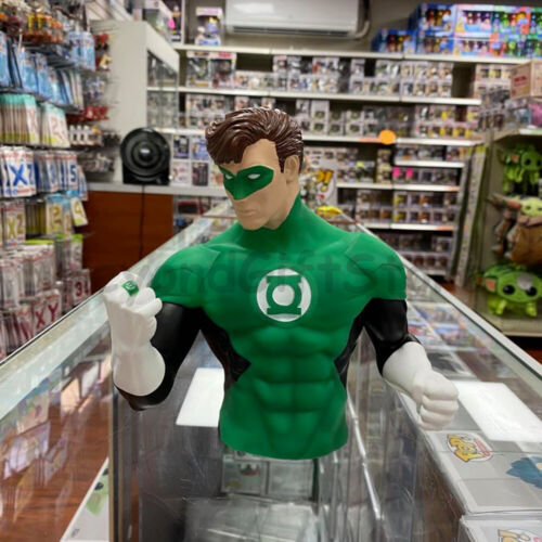 Green Lantern Molded PVC Bust Coin Bank Marvel Universe 3D Figure Collectible