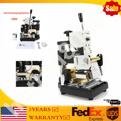 Manual Hot Foil Stamping Machine Leather Logo Stamp Bronzing Embossing Tool Ups
