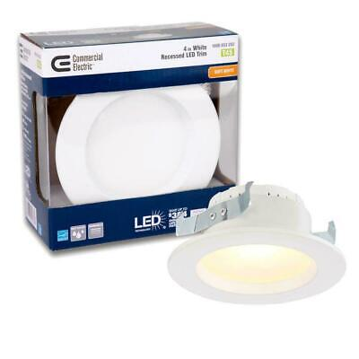 4 In. White Integrated Led Recessed Can Light Trim 2700k 4-pack