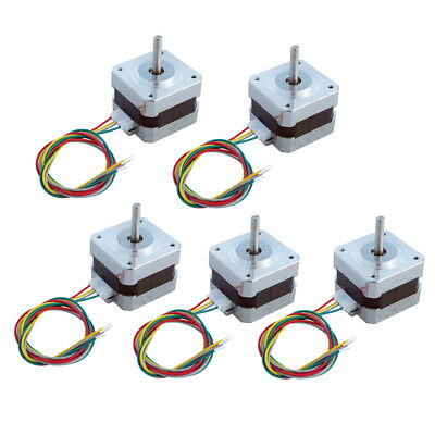 5 PCS NEMA 17 12V Stepper Motor Control 2 Phase 12V 0.4A  1.8° Step Angle CNC