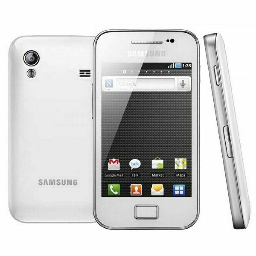 Android Phone - New Samsung Galaxy Ace WHITE S5830i Android 3G Sim Free Unlocked Mobile Phone