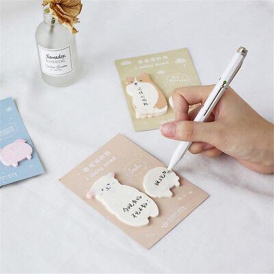 2pcs Cute Animal Memo Pad Sticky Notes Paper Sticker Notepad Kawaii Stationery