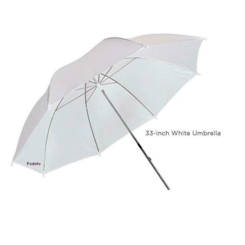 "Fodoto 6-Pack 33"" White Transparent Shoot Through Umbrella Studio Reflector"
