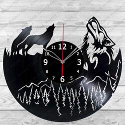Vinyl Clock Wolf Vinyl Record Wall Clock Home Decor Handmade 199